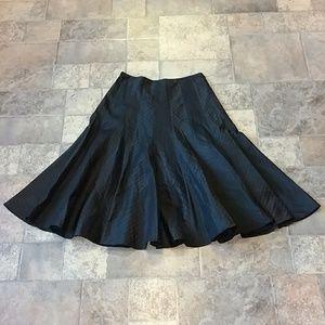 Rickie Freeman Teri Jon black flare skirt